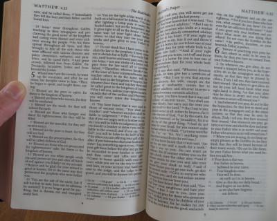 bible open at Matthew