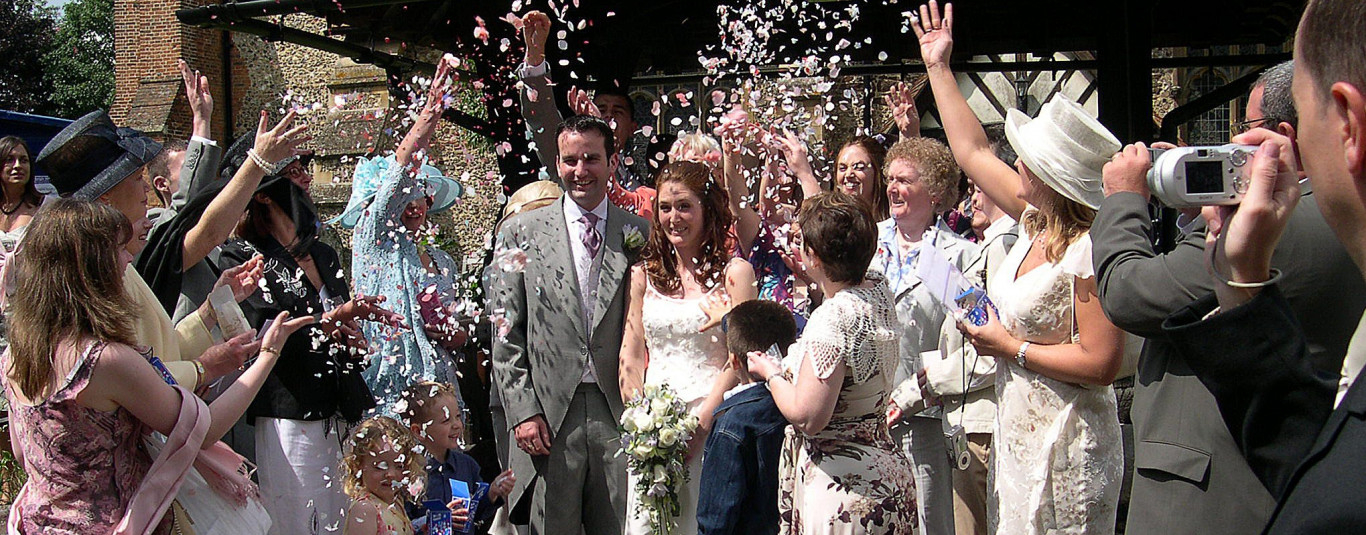 A wedding at All Saints'